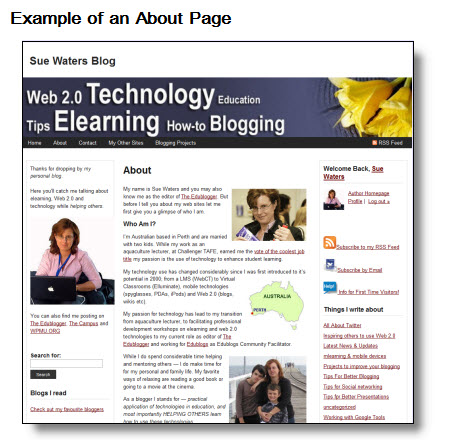 Example of an about page