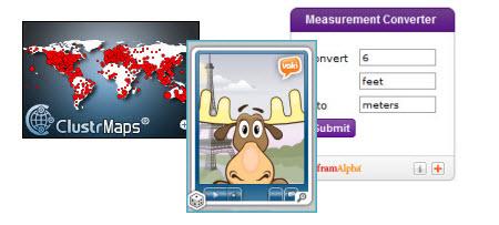 Example of widgets