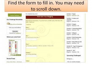 scroll down for form