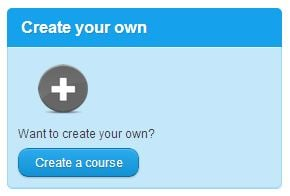 Create Your Own Course Button.