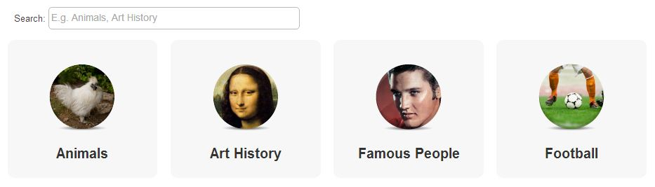 """A Screenshot Of The Memrise """"Other Topics""""."""