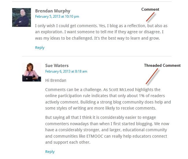 Step 4 teach quality commenting skills teacher challenges comment on a post altavistaventures Images