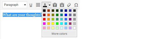 Adding color