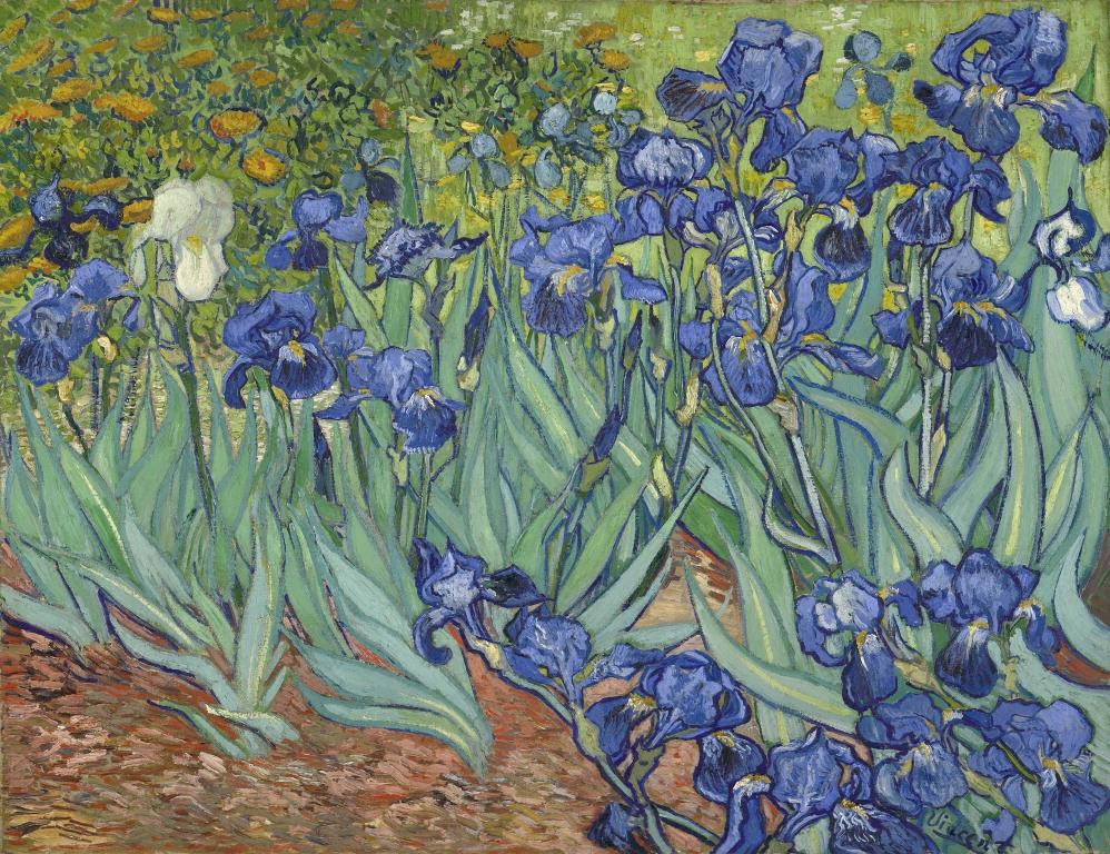 Vincent van Gogh [Dutch, 1853 - 1890], Irises, Dutch, 1889, Oil on canvas, Digital image courtesy of the Getty's Open Content Program.