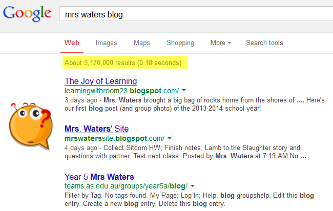 Frustration of Googling a blog