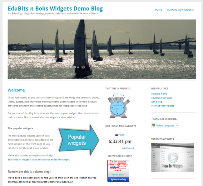Widget Demo blog