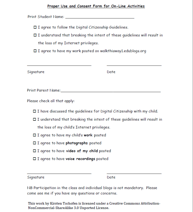 project authorization form template – Parents Consent Letter for Work