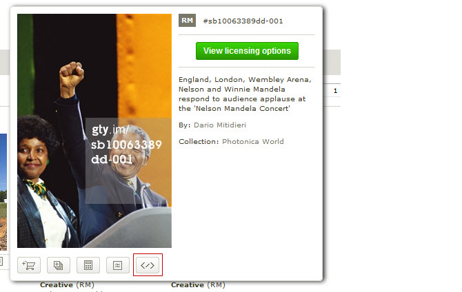 Click on Embed code