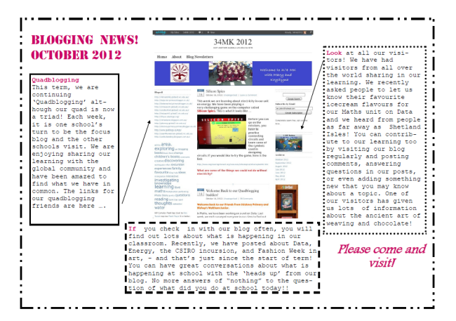 Example of Blogging newsletter