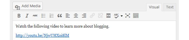 Hyperlinked URL