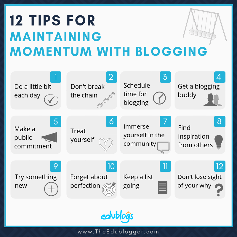 12 Tips For Maintaining Momentum With Blogging