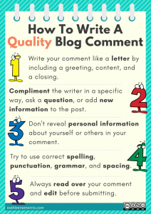 How to write a quality blog comment Kathleen Morris