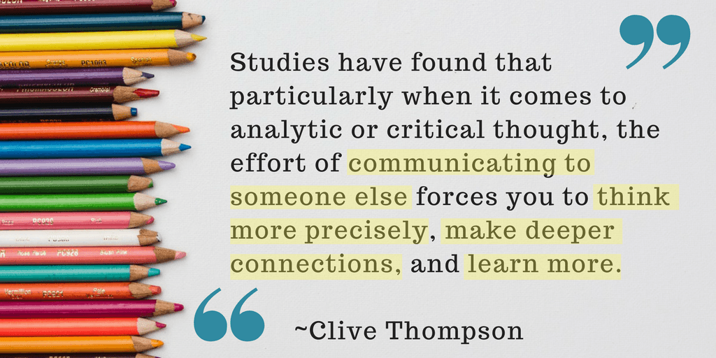 Clive Thompson quote about the power of an authentic audience