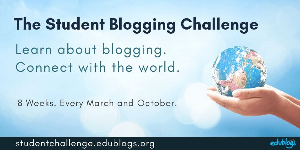 The student blogging challenge runs every March and October for 8 weeks (graphic)