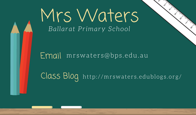 Example class blog business card
