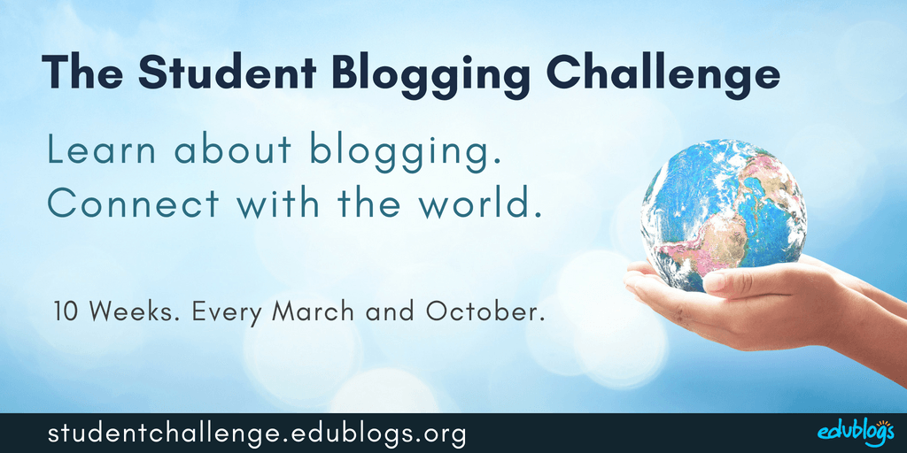 The Student Blogging Challenge is held twice a year