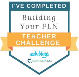 PLN Teacher Challenge badge Edublogs