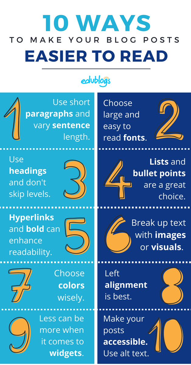 0 Ways to Make Your Blog Posts Easier to Read Infographic